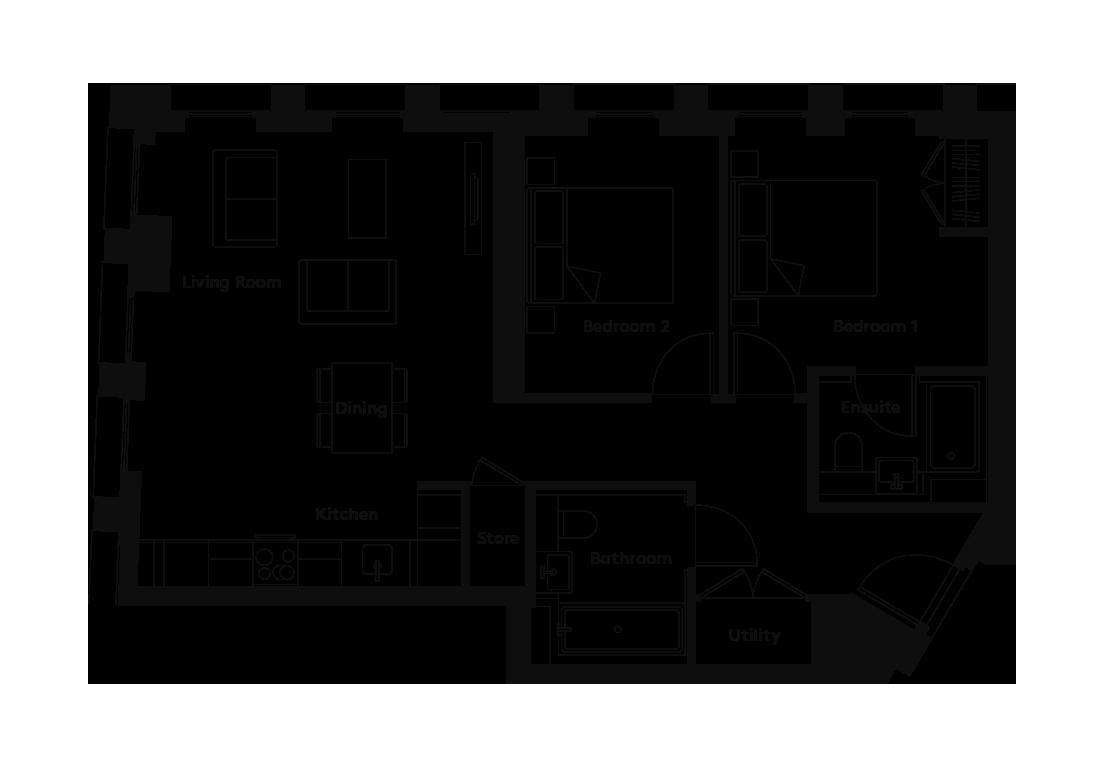 Linter – 806 floorplan
