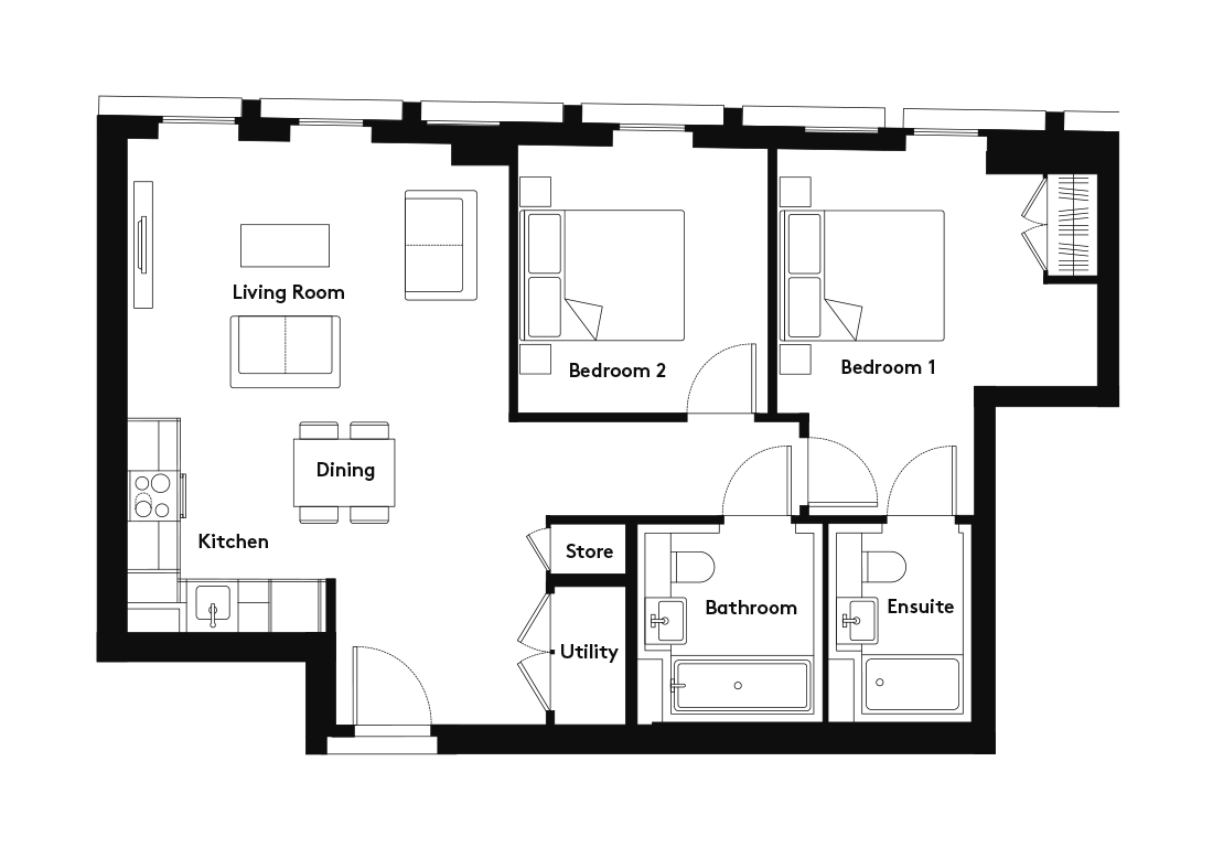 Carding – 1305 floorplan