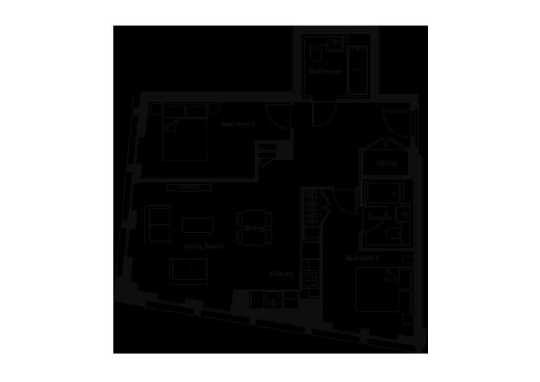 Carding – 1302 floorplan