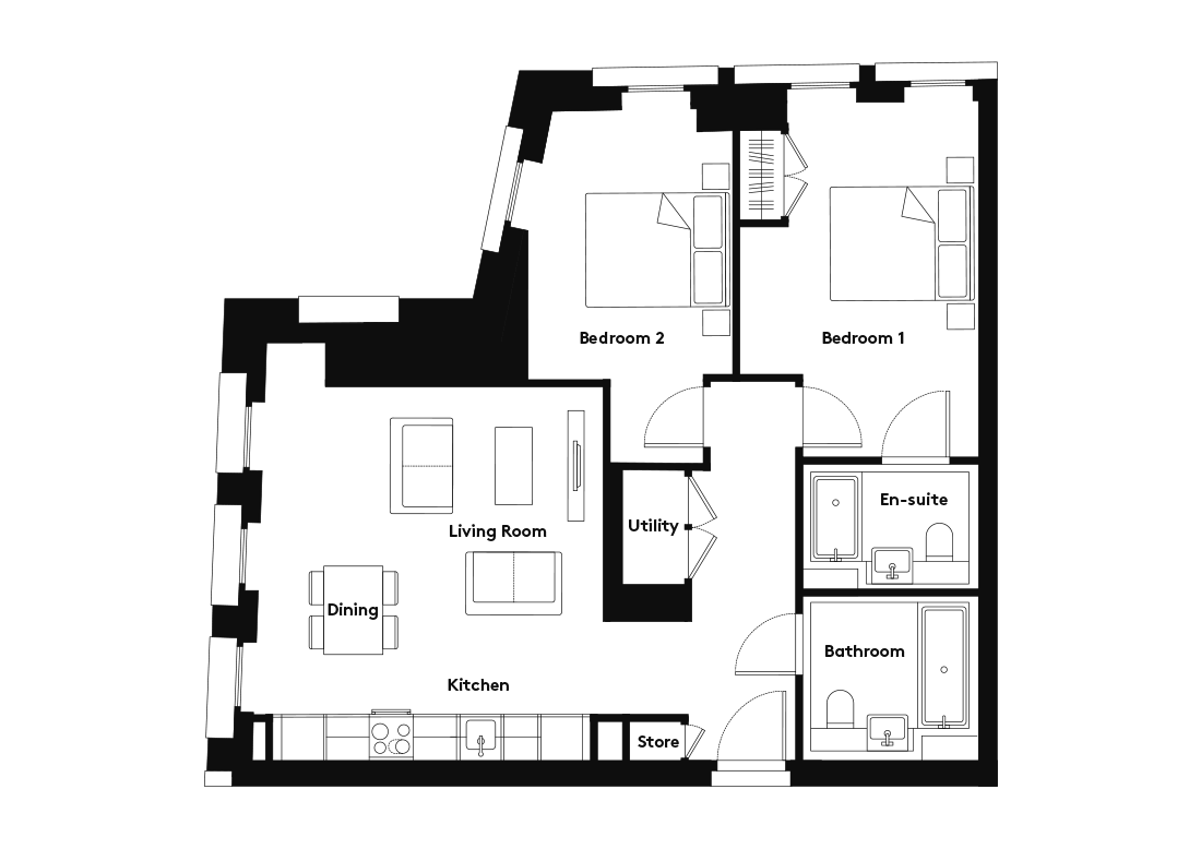 Calico – 408 floorplan
