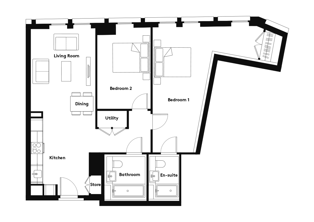 Calico – 709 floorplan