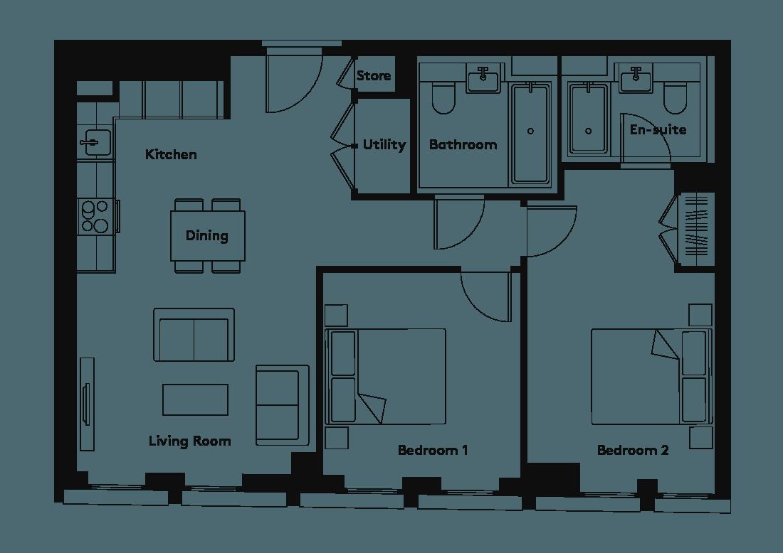 Calico – 1103 floorplan