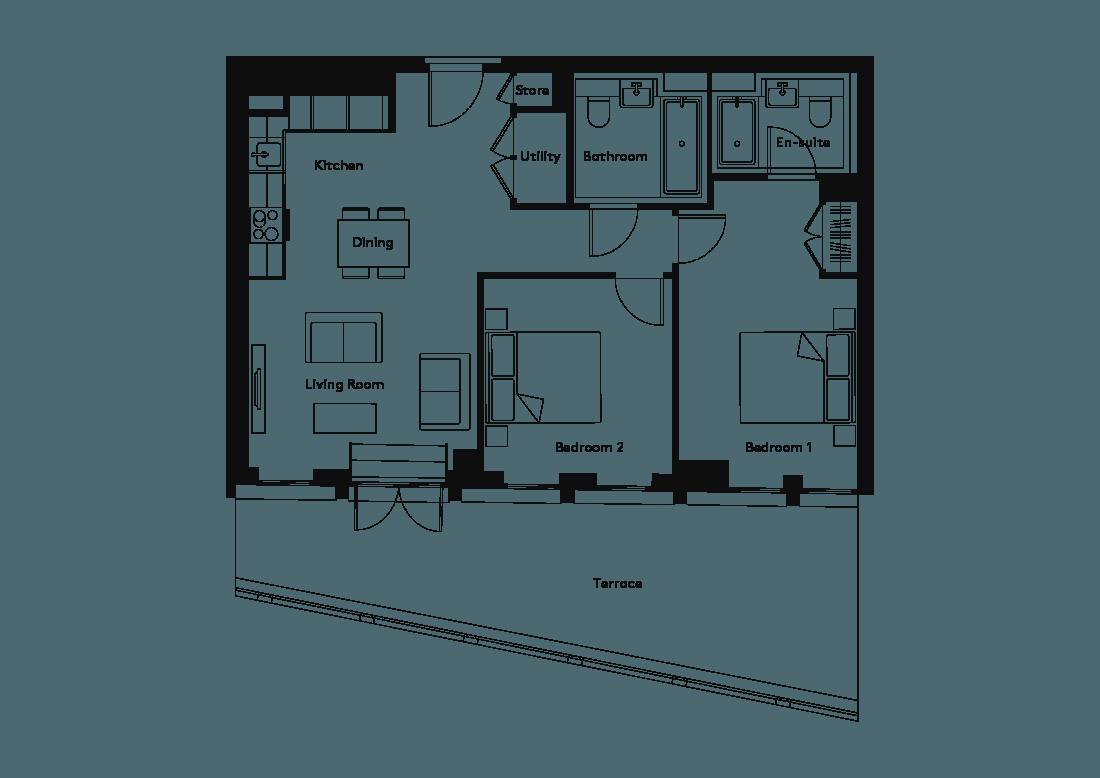 Calico – 1003 floorplan