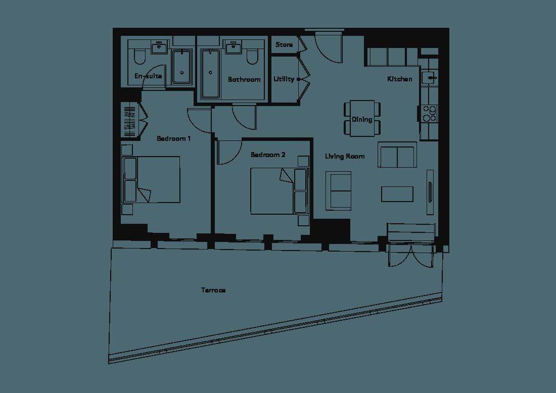 Calico – 1004 floorplan